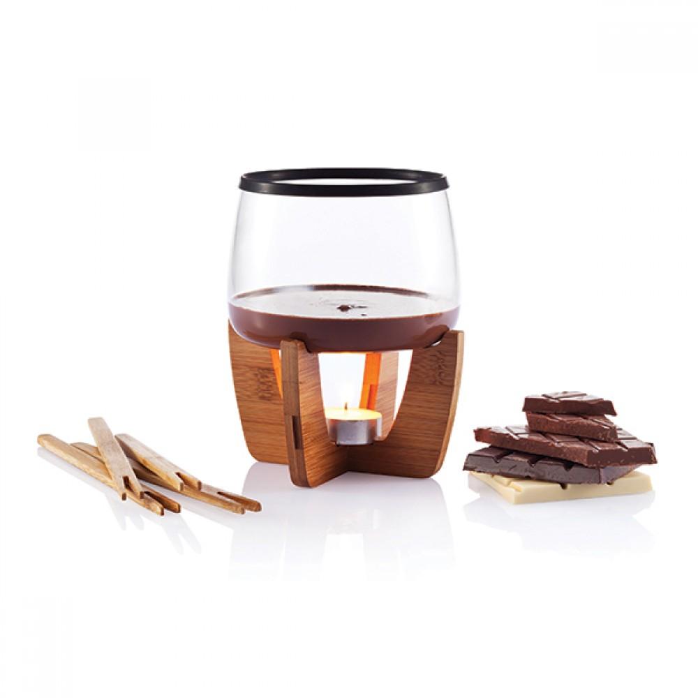 xd design 39 cocoa 39 chocolate fondue set. Black Bedroom Furniture Sets. Home Design Ideas